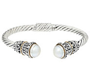 As IsSterling Silver & 18K Gold Gemstone Cuff by Artisan Crafted - J348859
