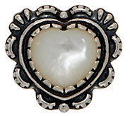 American West Mother of Pearl Sterling Silver Heart Enhancer - J350859