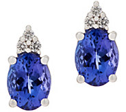 Oval Tanzanite and Diamond Stud Earrings, 14K - J354059