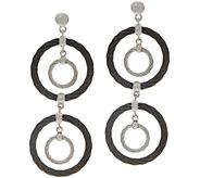 ALOR Stainless Steel Circular Drop Earrings - J354559