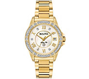 Bulova Womens Diamond Goldtone Marine Star Watch - J375159