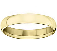 Mens 18K Yellow Gold 4mm Half Round Wedding Band - J375459