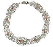 Black Hills 8-1/2 Filigree Link Bracelet, Ster ling/12K Gold - J109860