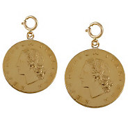 Set of 2 Twenty-Lire Coin Charms, 14K Gold - J110560
