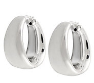UltraFine Silver Bold Graduated Polished Hoop Earrings - J111260