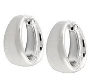 UltraFine Silver Bold Graduated Polished Hoop Earrings - J111260