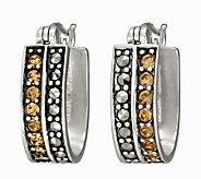 Suspicion Sterling Marcasite & Champagne Crystal Earrings - J112460