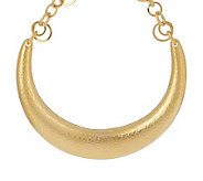 Luxe Rachel Zoe Hammered Horseshoe Necklace - J152960