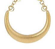 Luxe Rachel Zoe Hammered Horseshoe Necklace - J152960