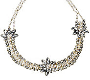 Luxe Rachel Zoe Elaborate Simulated Stone & Simulated Pearl Necklace - J263260