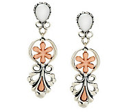 Carolyn Pollack Blushing Joy Sterling/Copper Earrings - J272060