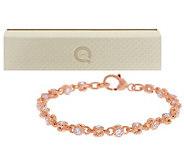 Judith Ripka 14K Clad 5.50ct 100-Facet Average Rolling Bracelet - J274060