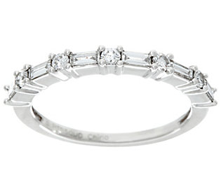 Product image of Baguette & Round Band Diamond Platinum, 1/3ct by Affinity