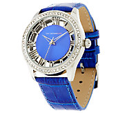 Isaac Mizrahi Live! Clear Case Colorful Strap Watch - J288260