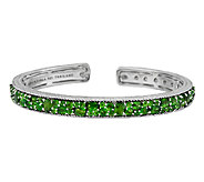 Judith Ripka Sterling 6.20cttw Chrome Diopside Hinged Cuff - J290460
