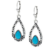 Sleeping Beauty Turquoise Sterling Dangle Earrings by American West - J290860