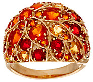 2.40 ct tw Colors of Fire Opal Floral Design Domed Ring, 14K - J294960