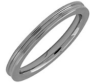 Simply Stacks Sterling Black Rhodium-Plated 2.25mm Groove Ring - J298060