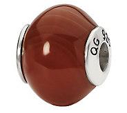 Prerogatives Sterling Red-Brown Agate GemstoneBead - J298260