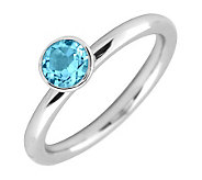 Simply Stacks Sterling 5mm Round Blue Topaz Solitaire Ring - J298760