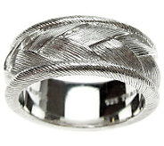 Judith Ripka Sterling Textured Braided WomensRing - J310560