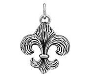 Sterling Textured Fleur-de-Lis Pendant - J312560