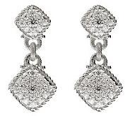 Judith Ripka Sterling 1.25ct Diamonique Pave Earrings - J313960