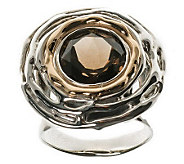 Hagit Gorali Sterling Round Smoky Quartz Ring - J314160