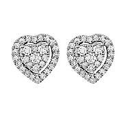 Diamond Heart Cluster Stud Earrings, 14K, 4/10cttw by Affinit - J315660