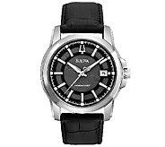 Bulova Mens Precisionist Black Leather Strap Watch - J316460