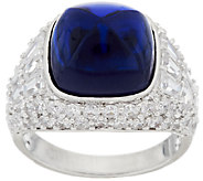 The Elizabeth Taylor 4.35cttw Sugarloaf Simulated Sapphire Ring - J319860