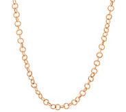 Judith Ripka Sterling & 14K Clad 36 Verona Circle Link Necklace - J320060