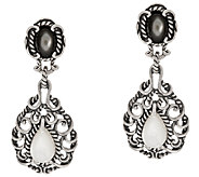Carolyn Pollack Sterling Silver Signature Mother-of-Pearl Drop Earrings - J320460