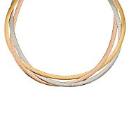 As Is Bronzo Italia 20 Tri-color Braided Omega Necklace - J320860