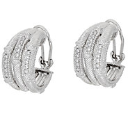 Judith Ripka Sterling Triple Hoop Earrings - J321460