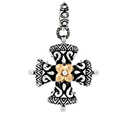 Barbara Bixby Sterling & 18K Yellow Gold Cross Charm - J321560