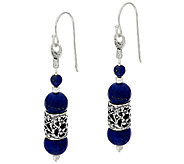 Sterling Silver Lace and Gemstone Bead Drop Earrings by Or Paz - J324060