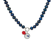 Honora Cultured Pearl 7.0mm NFL Team 18 Charm Necklace - J326560