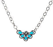 Carolyn Pollack Sterling Silver Sleeping Beauty Turquoise Necklace - J327460