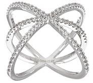 Diamonique Orbital Design Ring, Sterling - J329560