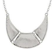 As Is Dominique Dinouart Sterl. Mesh Station Necklace, 54.0g - J330360