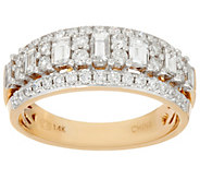 Baguette & Round Diamond Band Ring, 14K, 1.00 cttw, by Affinity - J333660