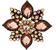 As Is Joan Rivers Magnificent Crystal Statment Brooch - J333960