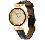 As Is Liz Claiborne New York Curved T-Bar Strap Watch - J334560