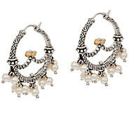 Barbara Bixby Cultured FreshwaterPearl Hoop Earrings Sterling/18K - J346960