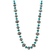 Simulated Turquoise Bead Necklace - J347660