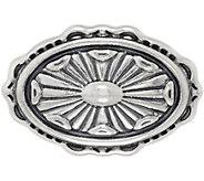 American West Sterling Silver Concha Design Oval Enhancer - J350860