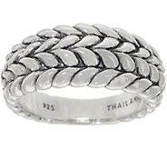 Tiffany Kay Studio Sterling Silver Herringbone Tapered Ring - J352760