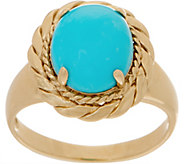 14K Gold and Kingman Turquoise Ring - J353560