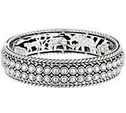 JAI Sterling Silver Kalahari Beaded Bangle, 57.1g - J354960